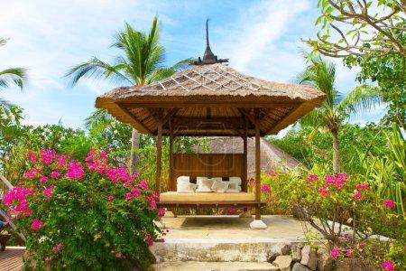 Pavilion for Spa procedures in tropical garden